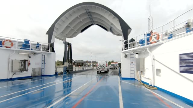denmark ferry i synced series front view driving process plate - ferry stock videos & royalty-free footage