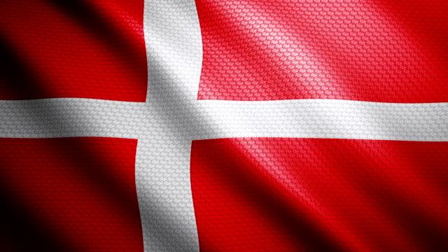 vídeos y material grabado en eventos de stock de bandera de dinamarca 4k - danish flag