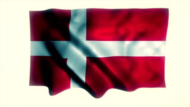 denmark flag, danish flag - danish flag stock videos and b-roll footage