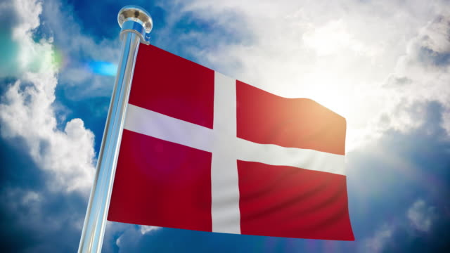 4k - denmark flag | loopable stock video - all european flags stock videos and b-roll footage