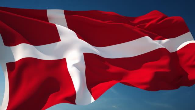 4K Denemarken Flag - loopbare