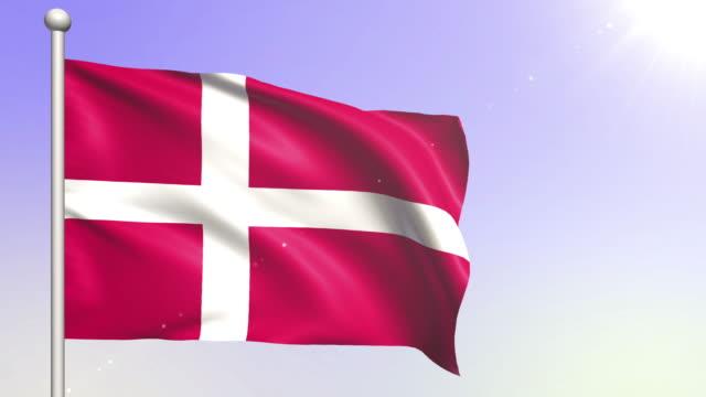 vídeos y material grabado en eventos de stock de bandera de dinamarca (loopable) - danish flag