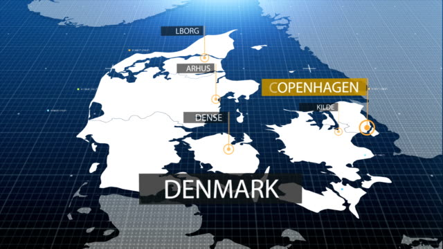 Denmark map with label then with out label