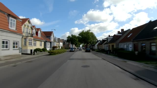 denmark vi synched series front driving studio process plate background - suburb stock videos & royalty-free footage