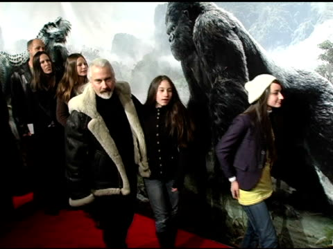 Dennis Baker and family at the 'King Kong' New York Premiere at Loews EWalk and AMC Empire Cinemas in New York New York on December 5 2005