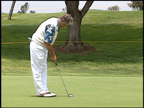 Dennis Farina at the LAPD Celebrity Golf Tournament at Rancho Park Golf Course in Los Angeles California on May 19 2001