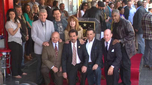 Dennis Franz Clifton Collins Jr Lee Purcell Joe Mantegna Andy Garcia Ed Lauter and Stan Shaw at the Joe Mantegna Honored with a Star on the Hollywood...