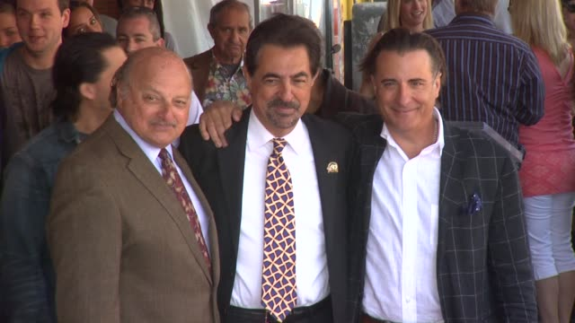 Dennis Franz Joe Mantegna and Andy Garcia at the Joe Mantegna Honored with a Star on the Hollywood Walk of Fame at Hollywood CA