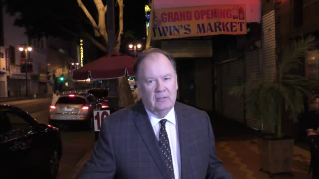 interview dennis haskins talks about how he lost 75 pounds outside the big brother 18 cast finally party at cliftons in los angeles at celebrity... - dennis haskins stock videos and b-roll footage