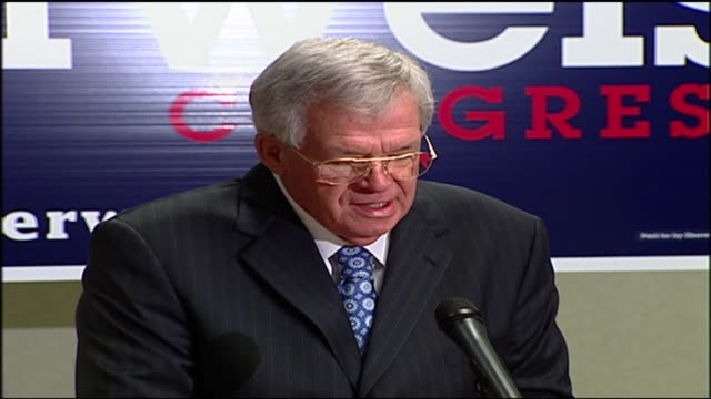 wgn dennis hastert endorsing jim obersweis for the seat that hastert vacated during the 2008 election - yorkville illinois stock videos & royalty-free footage