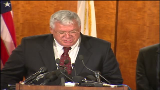 wgn dennis hastert talks about naming pete hoekstra as chairman of the house permanent select committee on intelligence in september 2004 - yorkville illinois stock videos & royalty-free footage