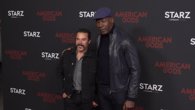 Dennis Haysbert and Michael Irby at the Los Angeles Red Carpet and Premiere of 'American Gods' at Ace Hotel on March 05 2019 in Los Angeles California