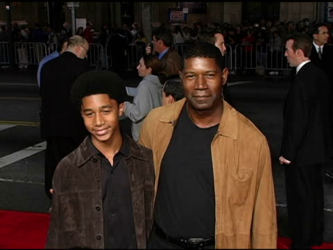 Dennis Haysbert and Son Charles at the 'Alexander' Premiere Arrivals at Grauman's Chinese Theatre in Hollywood California on November 16 2004