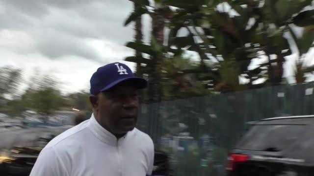 Dennis Haysbert arrives to Game 7 of World Series at Dodger Stadium in Los Angeles in Celebrity Sightings in Los Angeles