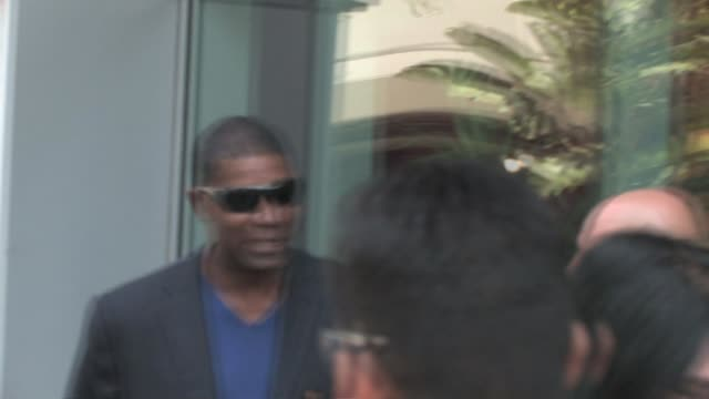 Dennis Haysbert at the Staple Center in Los Angeles at the Celebrity Sightings in Los Angeles at Los Angeles CA