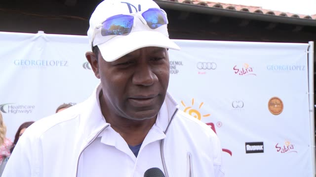 INTERVIEW Dennis Haysbert on being a part of today what he appreciates about George and his philanthropic efforts if he's an avid golfer at Lakeside...