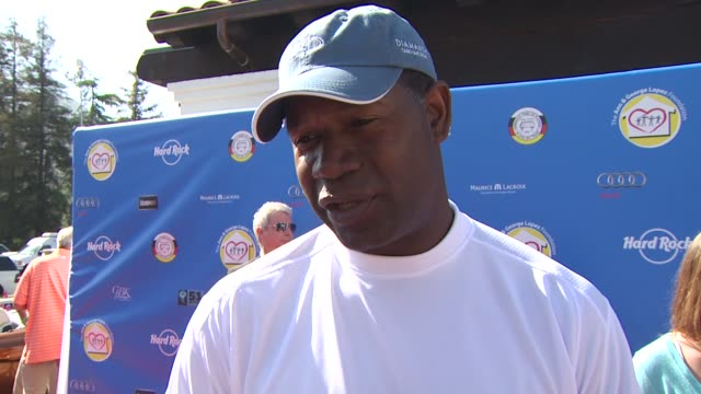 Dennis Haysbert on the importance of giving back drinking clean water and if he's an avid golfer at the Third Annual George Lopez Celebrity Golf...