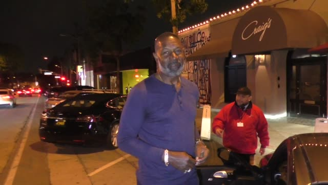 interview dennis haysbert talks about the coronavirus outside craig's restaurant in west hollywood in celebrity sightings in los angeles - dennis haysbert stock videos & royalty-free footage