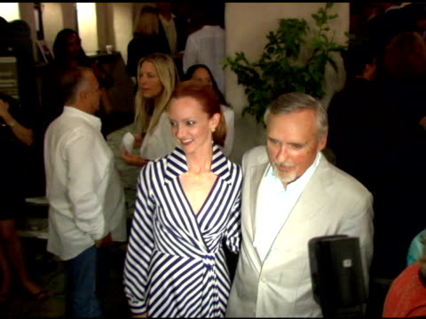 dennis hopper and victoria duffy at the opening night of august wilson's 'fences' at pasadena playhouse in pasadena california on september 1 2006 - pasadena playhouse stock videos & royalty-free footage