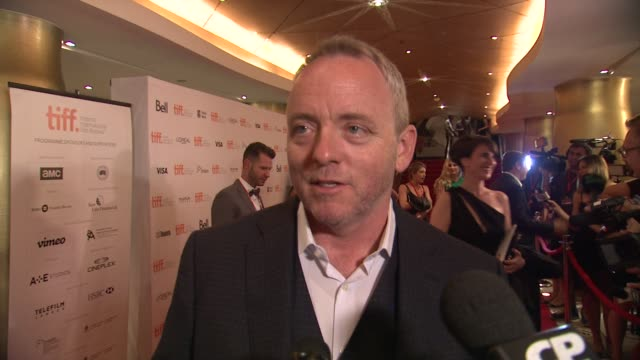"vídeos de stock, filmes e b-roll de dennis lehane on what inspired him to write this story, beefing up james gandolfini's part, and how he feels having the film premiere at tiff - ""the... - festival de cinema de toronto"