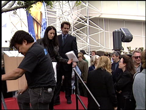 dennis miller at the bob hope honored with hollywood walk of fame plaque at hollywood boulevard in hollywood, california on april 15, 2003. - ボブ ホープ点の映像素材/bロール