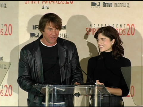 Dennis Quaid and Selma Blair announce the nominations for Best Cinematography at the 2005 Independent Spirit Awards Nominations at Le Meridien in Los...
