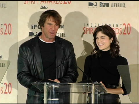 Dennis Quaid and Selma Blair announce the nominations for Best Feature at the 2005 Independent Spirit Awards Nominations at Le Meridien in Los...