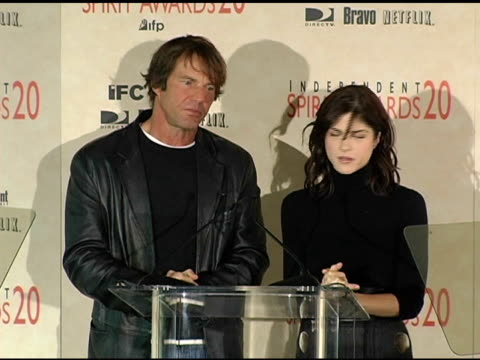 Dennis Quaid and Selma Blair announce the nominations for Best Female Lead at the 2005 Independent Spirit Awards Nominations at Le Meridien in Los...