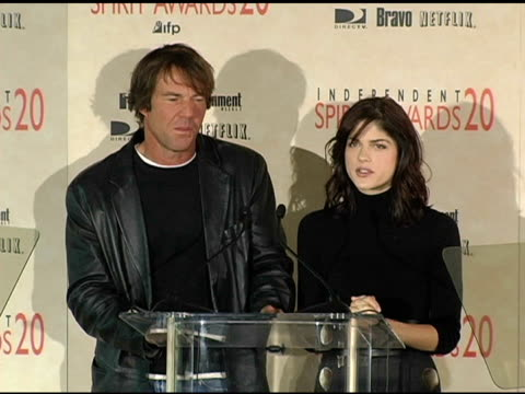 Dennis Quaid and Selma Blair announce the nominations for Best First Feature at the 2005 Independent Spirit Awards Nominations at Le Meridien in Los...