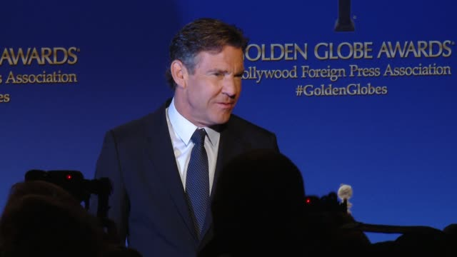 Dennis Quaid at the 73rd Annual Golden Globe Awards Nominations Announcement at The Beverly Hilton Hotel on December 10 2015 in Beverly Hills...