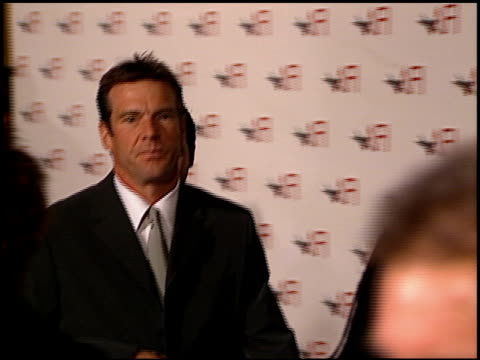 Dennis Quaid at the AFI Celebration Honoring Harrison Ford at the Beverly Hilton in Beverly Hills California on February 17 2000