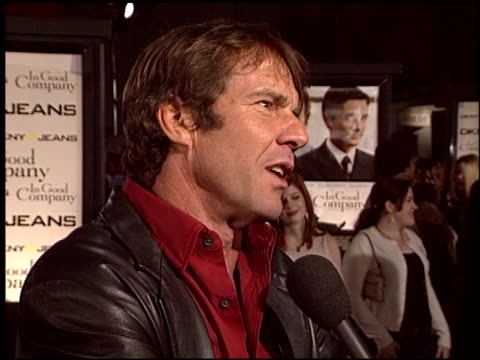 Dennis Quaid at the 'In Good Company' Premiere at Grauman's Chinese Theatre in Hollywood California on December 6 2004