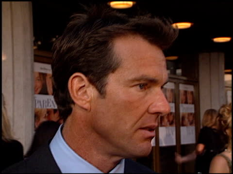 Dennis Quaid at the Premiere of 'The Parent Trap' at the Mann Festival Theater in Westwood California on July 20 1998