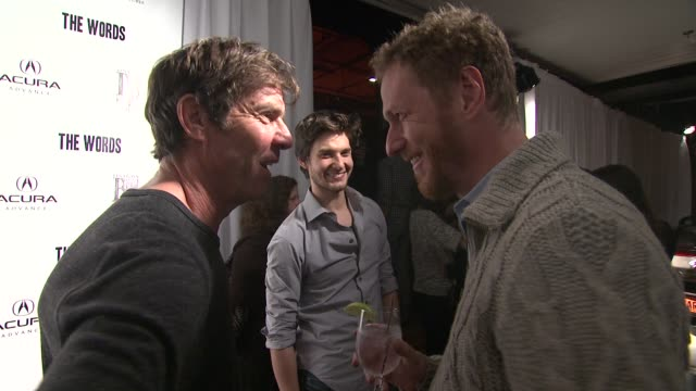 Dennis Quaid Brian Klugman and Ben Barnes at Acura Hosts 'The Words' Cast Dinner At The Acura Studio in Park City Utah on 1/26/2012