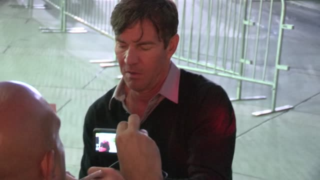 Dennis Quaid greets fans at The Words Premiere in Hollywood 09/04/12