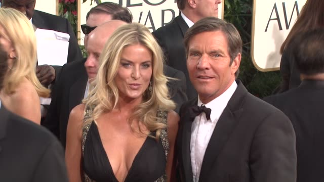 Dennis Quaid Kimberly Buffington at the 68th Annual Golden Globe Awards Arrivals Part 2 at Beverly Hills CA