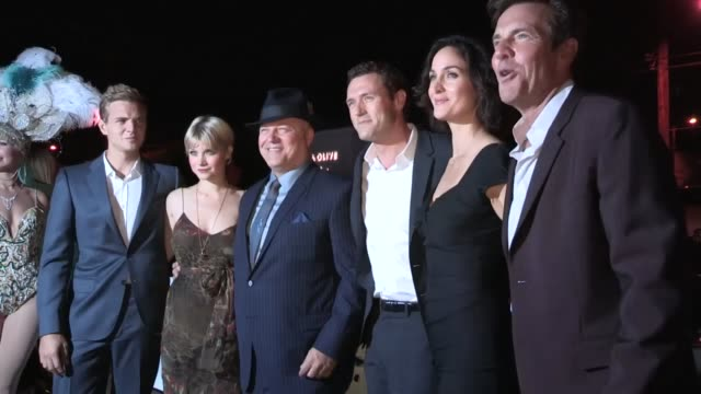 dennis quaid, michael chiklis & carrie anne moss at the cbs 2012 fall premiere party in west hollywood, 09/18/12 - michael chiklis stock videos & royalty-free footage