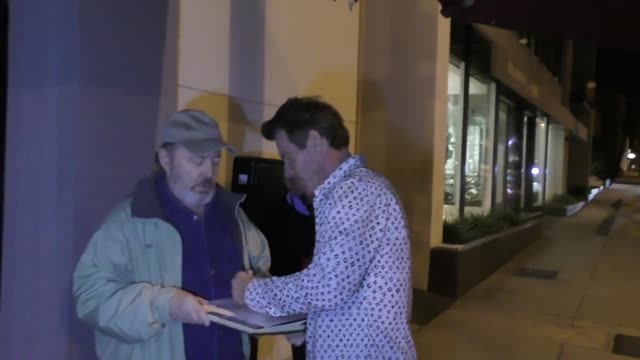 INTERVIEW Dennis Quaid on pulling for the Astros in the World Series outside Craig's in West Hollywood at Celebrity Sightings in Los Angeles on...