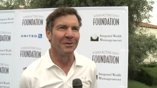 INTERVIEW Dennis Quaid on supporting SAG Foundation and on if he's an avid golfer at Screen Actors Guild Foundation 4th Annual Los Angeles Golf...