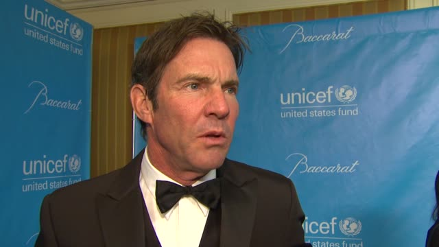 Dennis Quaid on Unicef at 2011 UNICEF Ball Presented By Baccarat in Los Angeles CA