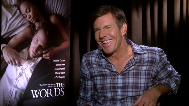 Dennis Quaid on working with writers/directors INTERVIEW Dennis Quaid on working with writers/di on August 18 2012 in Beverly Hills CA