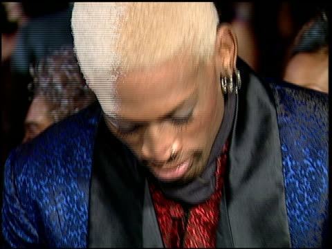 dennis rodman at the 1997 academy awards vanity fair party at the shrine auditorium in los angeles, california on march 24, 1997. - 69th annual academy awards stock videos & royalty-free footage