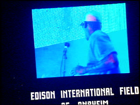 dennis rodman at the kroq weenie roast at edison field in anaheim california on june 17 2000 - kroq weenie roast stock videos & royalty-free footage
