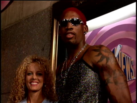Dennis Rodman on the 1995 MTV MTV Video Music Awardss red carpet