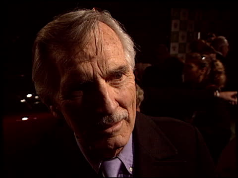dennis weaver at the environmental media awards at ebell theatre in los angeles, california on november 5, 2003. - environmental media awards stock-videos und b-roll-filmmaterial