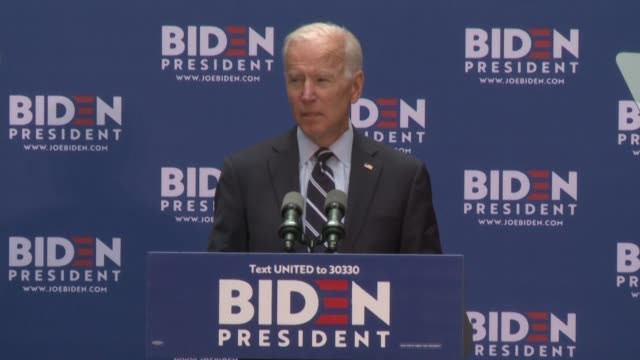 denouncing president donald trump as an affront to american values democratic candidate joe biden vows that if elected he could rejoin the nuclear... - president stock videos & royalty-free footage