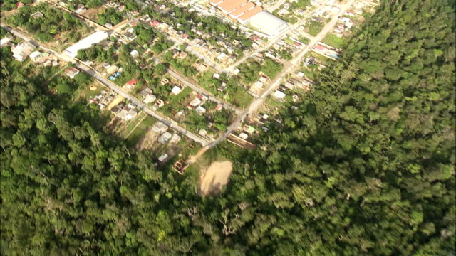 dense jungle surrounds the city of manaus brazil. available in hd. - rio delle amazzoni video stock e b–roll