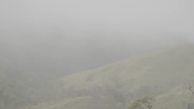 dense mist covering Mountains range