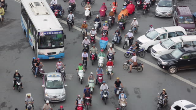 MS Dense traffic and motorbikes in Ho Chi Minh City