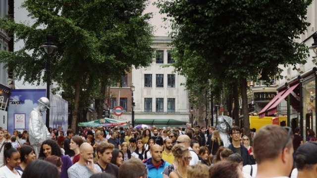 Densely Packed Crowds in Covent Garden